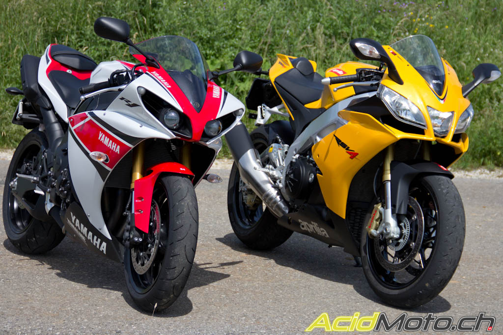 comparo yamaha r1 wgp 50th vs aprilia rsv4 r aprc sushi ou pasta le site. Black Bedroom Furniture Sets. Home Design Ideas