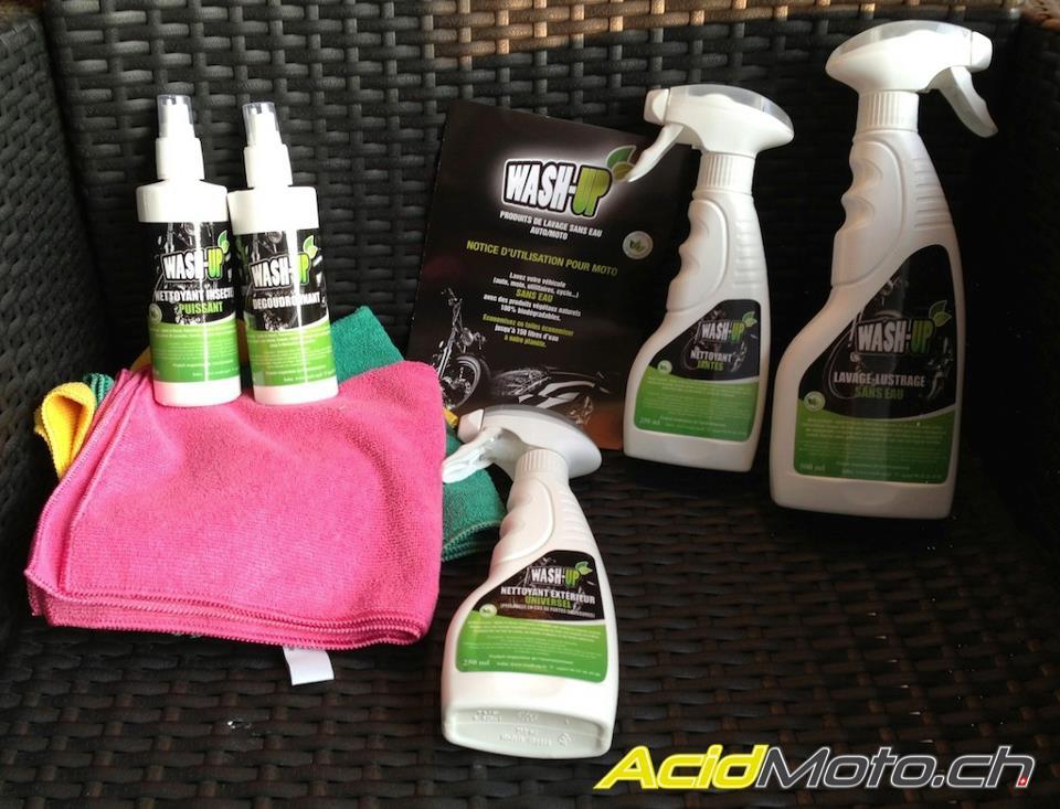 test du kit de nettoyage moto wash up un kit 100 biod gradable et naturel le. Black Bedroom Furniture Sets. Home Design Ideas