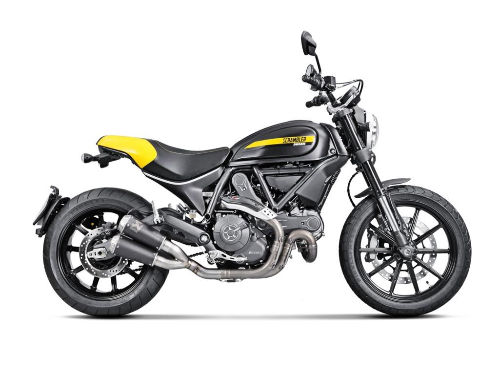 silencieux akrapovic slip on pour ducati scrambler. Black Bedroom Furniture Sets. Home Design Ideas
