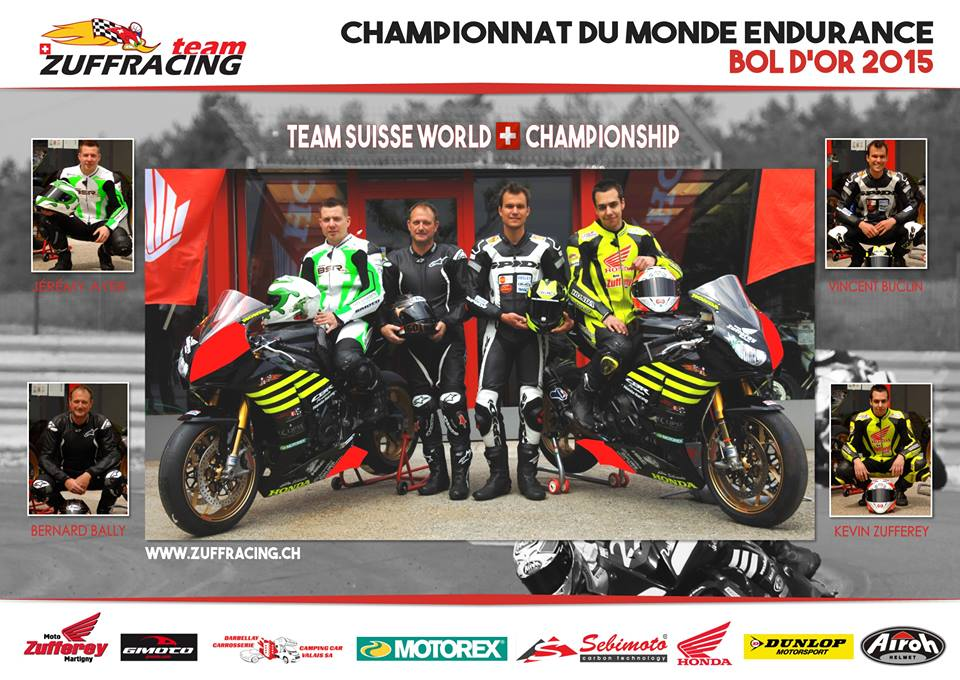 bol d or 2015 premi re exp rience en endurance pour le team zuff racing de martigny vs. Black Bedroom Furniture Sets. Home Design Ideas
