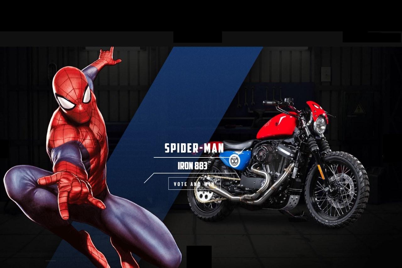 Harley davidson et marvel des motos l 39 effigie des - Spider man moto ...