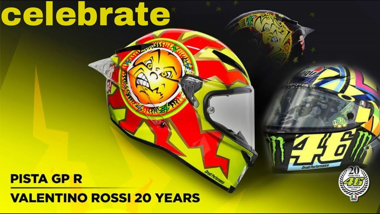 casque agv pista gp r rossi 20 years replica le site suisse de l 39 information moto. Black Bedroom Furniture Sets. Home Design Ideas