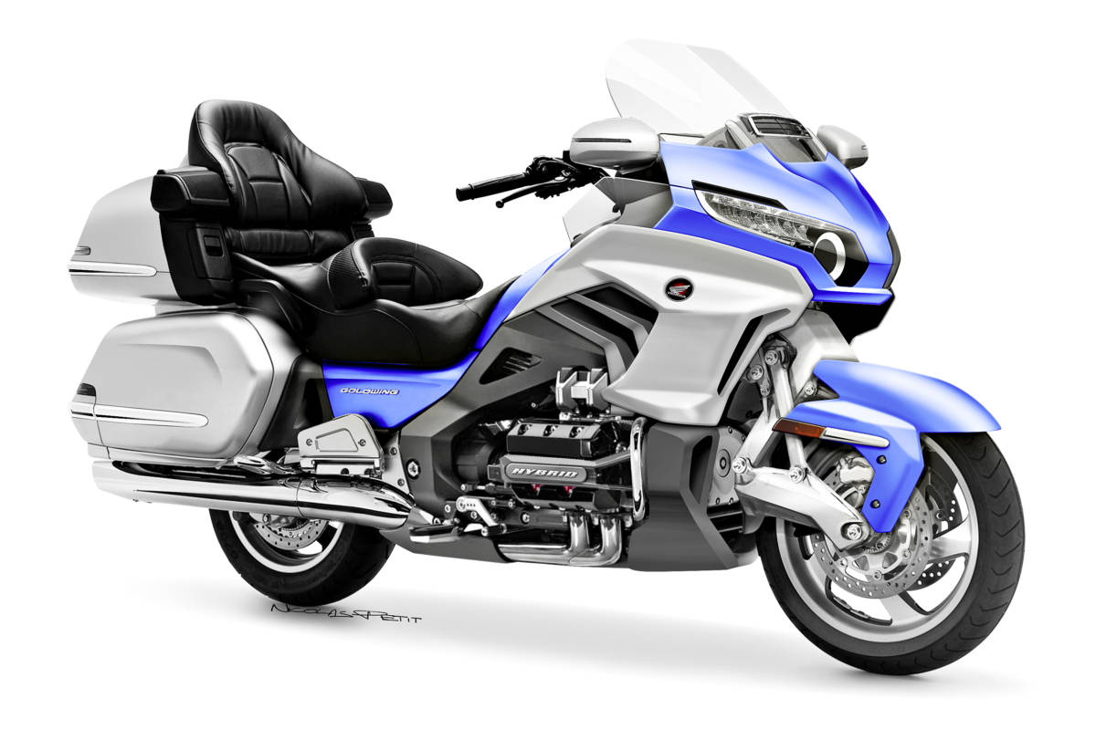 honda goldwing 2018 on commence en avoir une id e. Black Bedroom Furniture Sets. Home Design Ideas