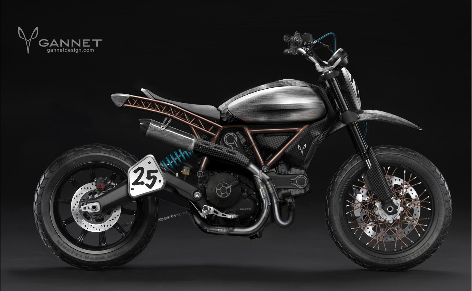 Coup De Crayon De Gannet Design Sur La Ducati Scrambler
