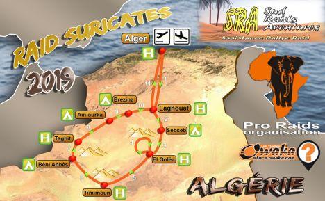 Raid Suricate 2019 en Algérie - Les inscriptions sont ouvertes Carte-raid-2e-version