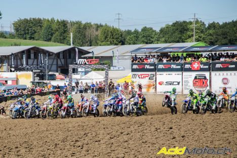 MXGP of Switzerland 2016 start race 2 mx2