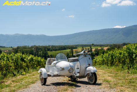 Side-car Vespa '69 - Comme un air de Dolce Vita