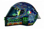 Des couleurs et des symboles mexicains sur le casque de Valentino Rossi