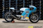 "Triumph Thruxton ""Phantom Blaze"" by Mellow Motorcycles"
