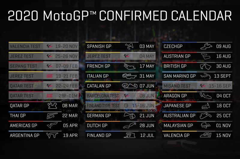Motogp Calendrier 2021 Calendrier MotoGP 2020   La version définitive est disponible