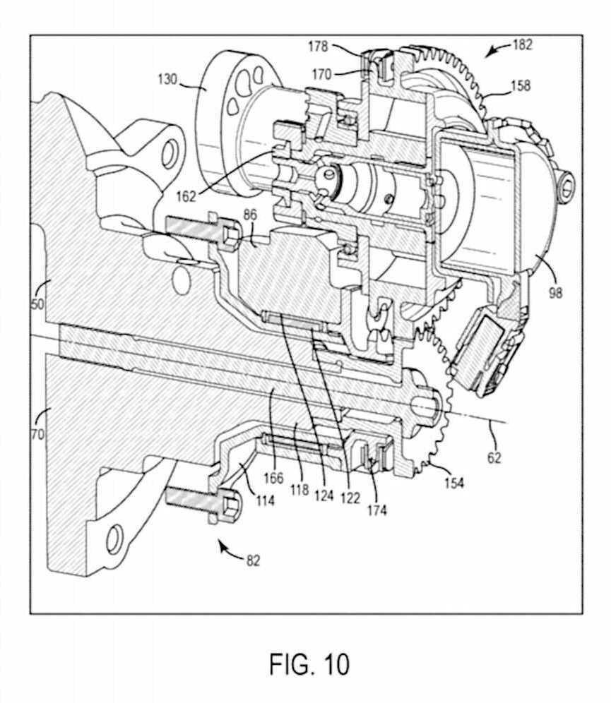 Calage variable et balancier d'équilibrage pour Harley-Davidson Harley-davidson-engine-balancer-patent-fig10_0