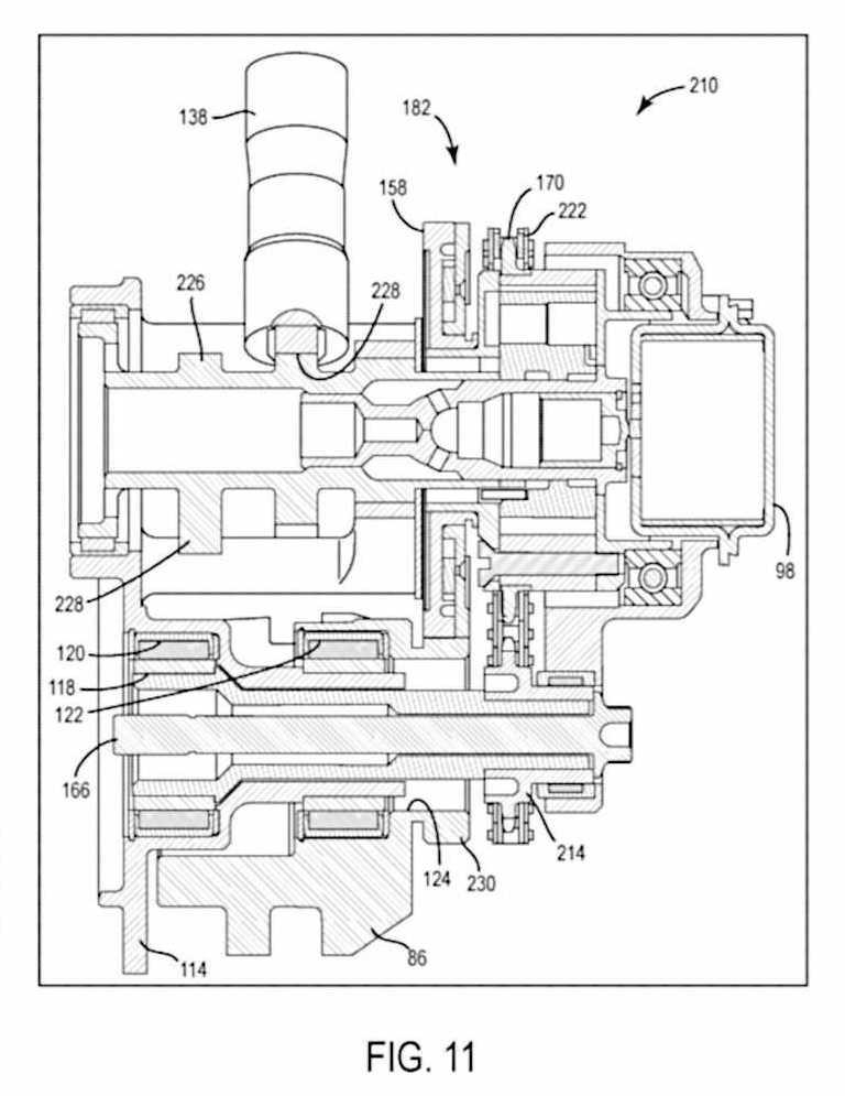 Calage variable et balancier d'équilibrage pour Harley-Davidson Harley-davidson-engine-balancer-patent-fig11_0