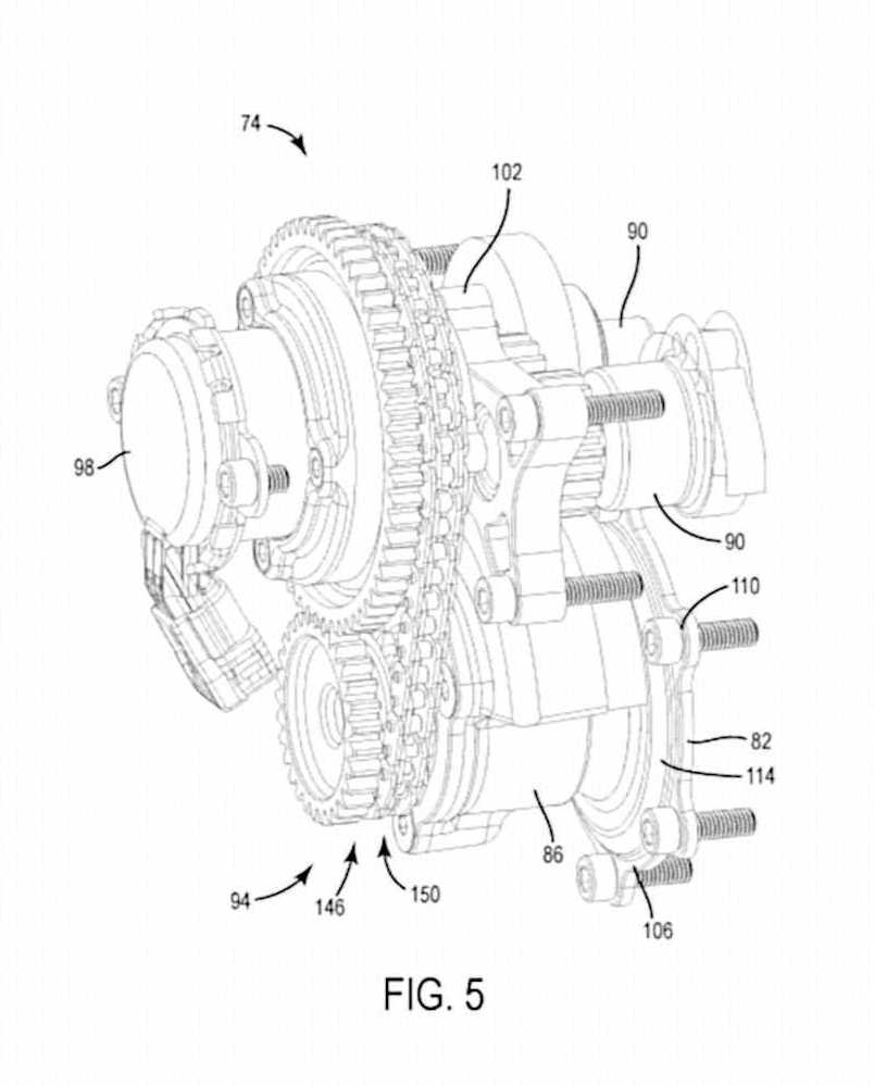 Calage variable et balancier d'équilibrage pour Harley-Davidson Harley-davidson-engine-balancer-patent-fig5_0