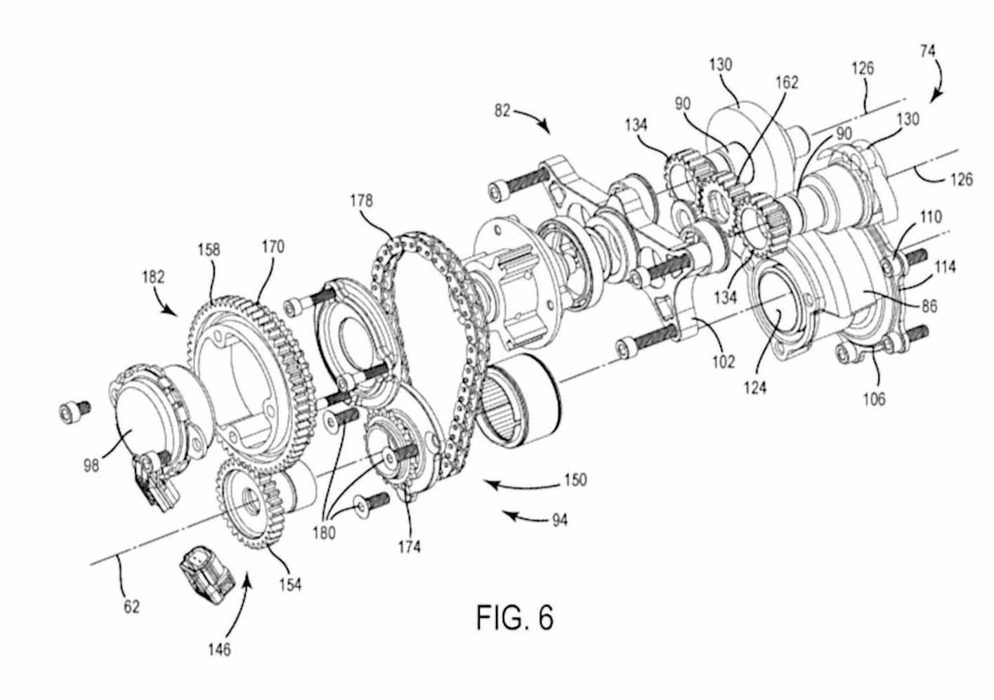 Calage variable et balancier d'équilibrage pour Harley-Davidson Harley-davidson-engine-balancer-patent-fig6_0