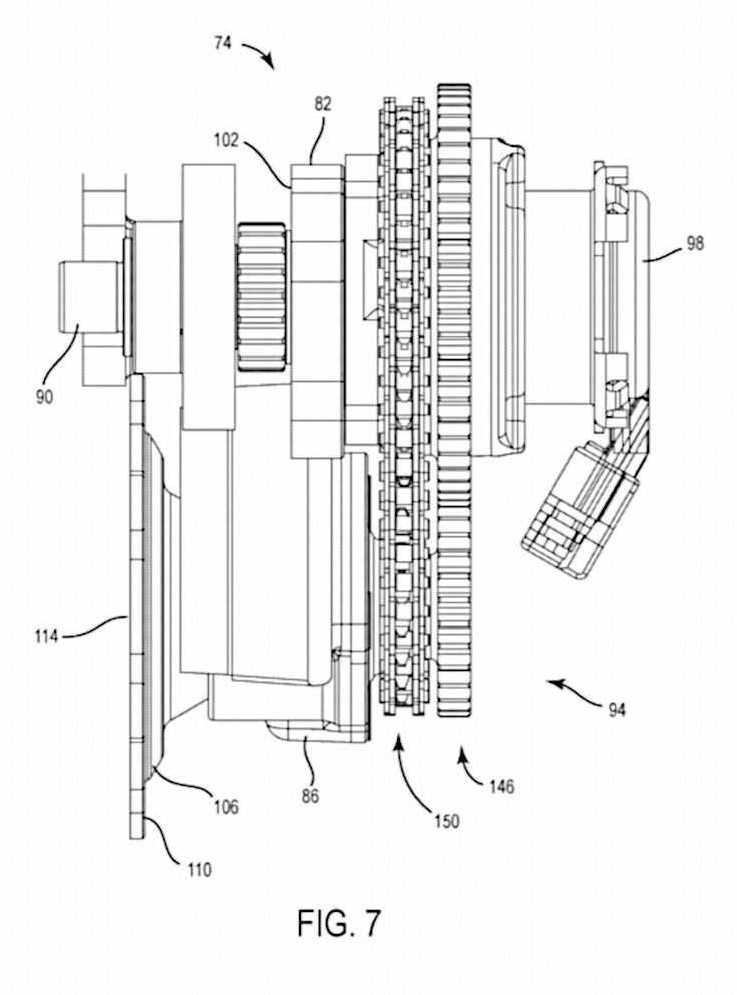 Calage variable et balancier d'équilibrage pour Harley-Davidson Harley-davidson-engine-balancer-patent-fig7_0