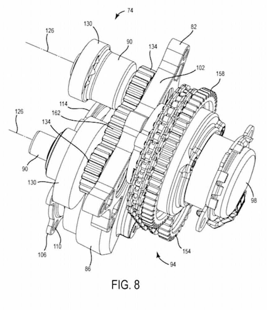 Calage variable et balancier d'équilibrage pour Harley-Davidson Harley-davidson-engine-balancer-patent-fig8_0