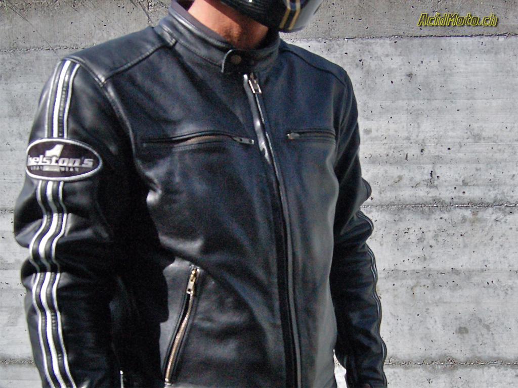 Blouson cuir triumph retro racer