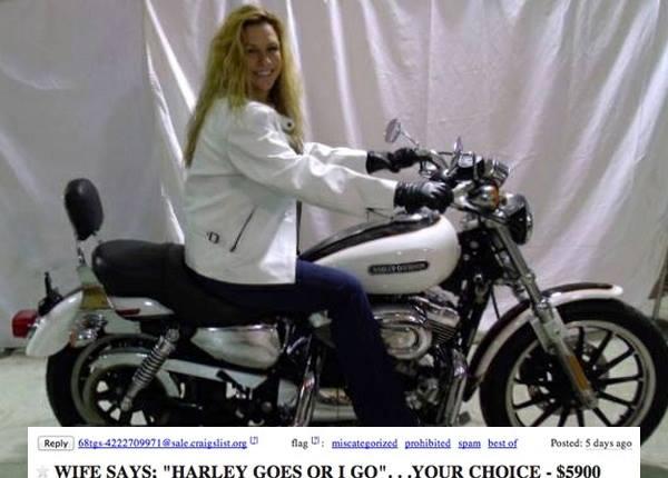 Il met en vente sa Harley-Davidson et sa