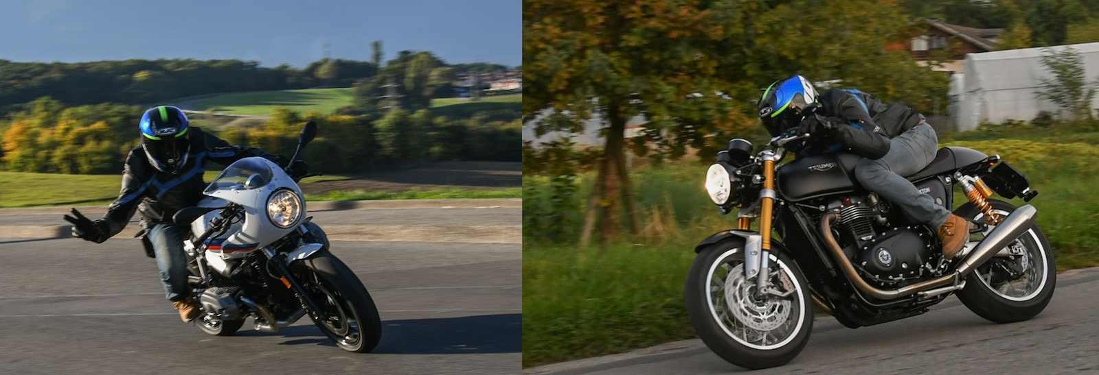 Comparatif Bmw Nine T Racer Vs Triumph Bonneville Thruxton R Les