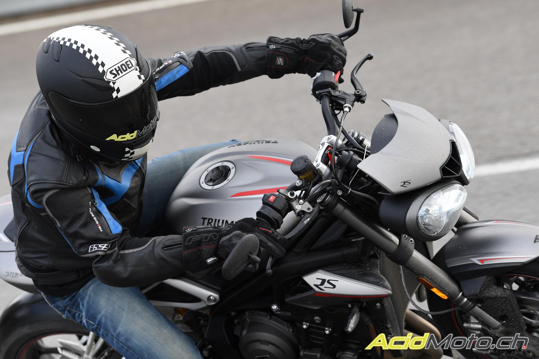 Gants moto hiver Chauffants Five HG1 WP Noir CE