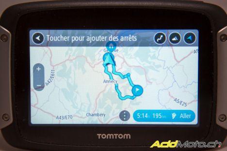Essai Tomtom Rider 400