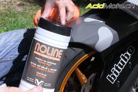 Essai des lingettes Noline - Nettoyer sa moto sans eau et avec efficacité