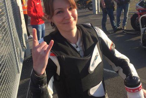 Interview Anouck Borne - La leçon de courage d'une motarde battante
