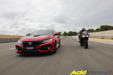 CBR 1000 RR et Civic Type R - Honda, comme deux et deux font quatre
