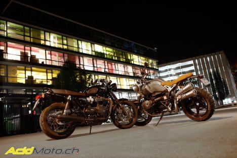 Comparatif BMW R NineT Scrambler / Triumph Bonneville T120 Black : Retour vers le futur