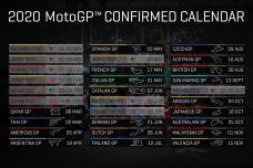 Calendrier MotoGP 2020 - La version définitive est disponible