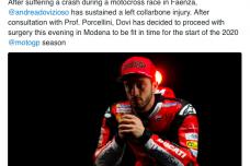 MotoGP - Fracture de la clavicule pour Dovisiozo