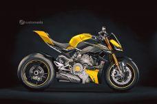 La nouvelle Ducati Streetfighter V4 vue par Kustomeka - Une valse de couleurs