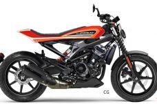Une Harley-Davidson XR250 dans les tuyaux