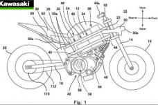 Une moto Kawasaki à moteur électrique en préparation