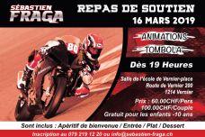 Repas de soutien Seb Fraga #80 – Le samedi 16 mars à Vernier