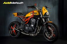 "Matteucci Garage Star Track - Speed Triple + Star Trek + Dirt Track = ""Star Track"""