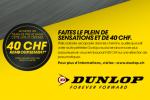 Dunlop Cashback 2018 - A l'achat d'un train de pneus listé, recevez CHF 40.- !