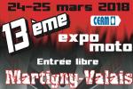 13ème Expo-Moto à Martigny (Valais) - Les 24 et 25 mars 2018