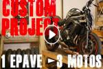Metzeler Custom Project - 1 épave - 3 motos - 3 courses - Le nouveau défi de Lolo Cochet