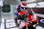 La Yamaha R1 de Moto-Ain et Robin Mulhauser passent en soufflerie à l'HEPIA de Genève