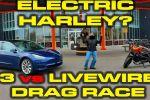 Une Tesla Model 3 s'oppose à la LiveWire de Harley-Davidson